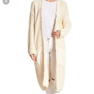 Free people cream cardigan